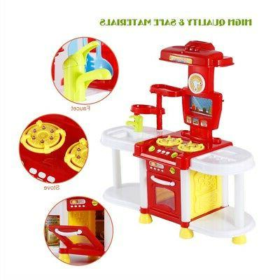Kids Kitchen Play Set Cooking Toys Gift Playset Gift