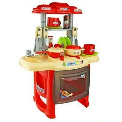 Kitchen Pretend Play Kitchenware Cooking Red