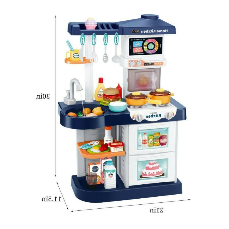 Kids Kitchen Play for With Touch Remote Control Toy Gifts