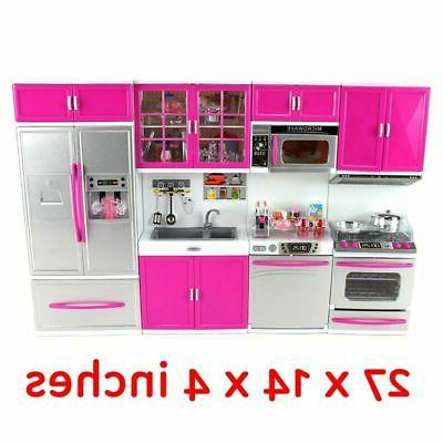 Mini Kitchen Toy Battery Operated Cooking Play Set