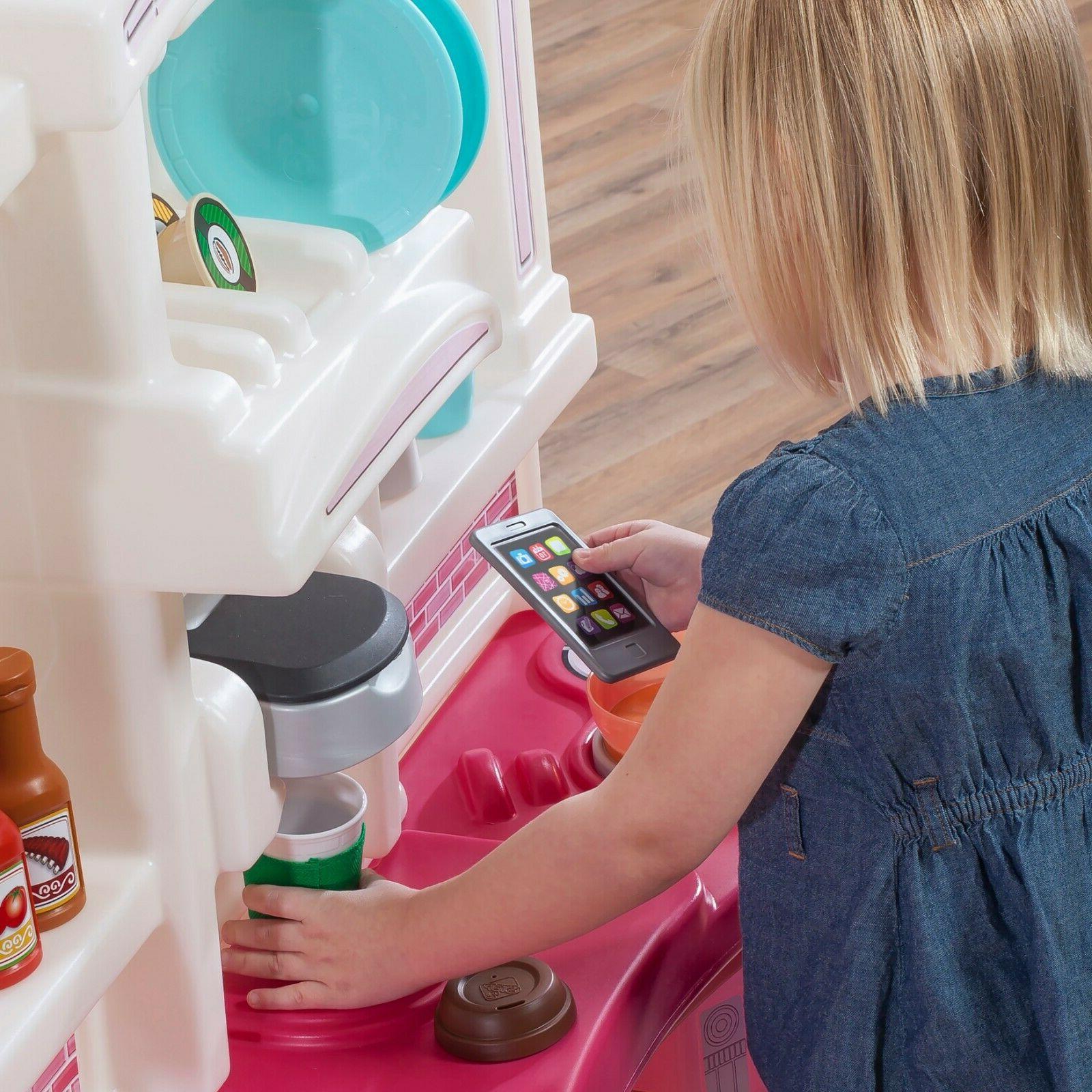 Pretend Toy Kitchen Playset Kids Cooking Birthday