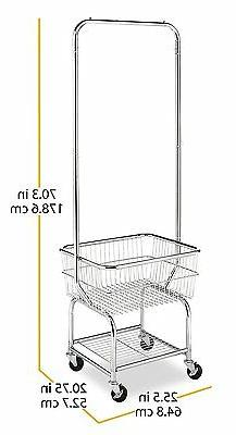 Laundry Storage Basket Hanger Rack