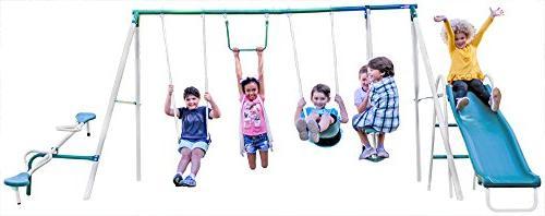 live oak metal swing slide