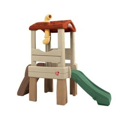 lookout treehouse kids outdoor playset climber slide