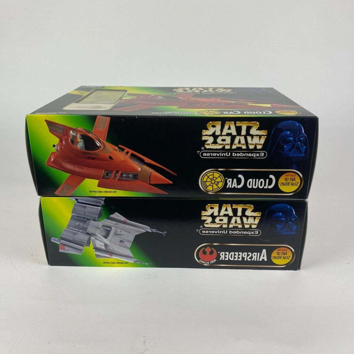 Lot 2 Star Wars Expanded Universe Cloud Car and Airspeeder Play Set