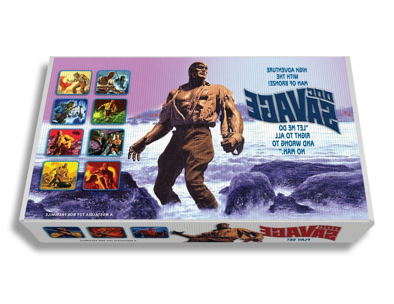 marx doc savage play set box