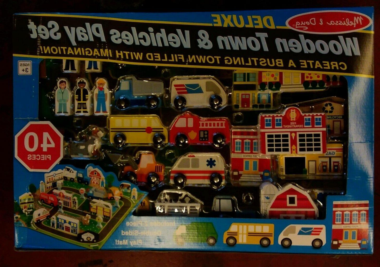 Melissa & Deluxe Wooden Town & includes