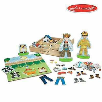 melissa and doug occupations magnetic dress up
