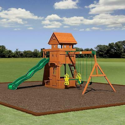 Cedar Wood Playset Swing Set