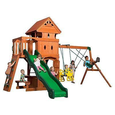 monterey all cedar wood playset swing set