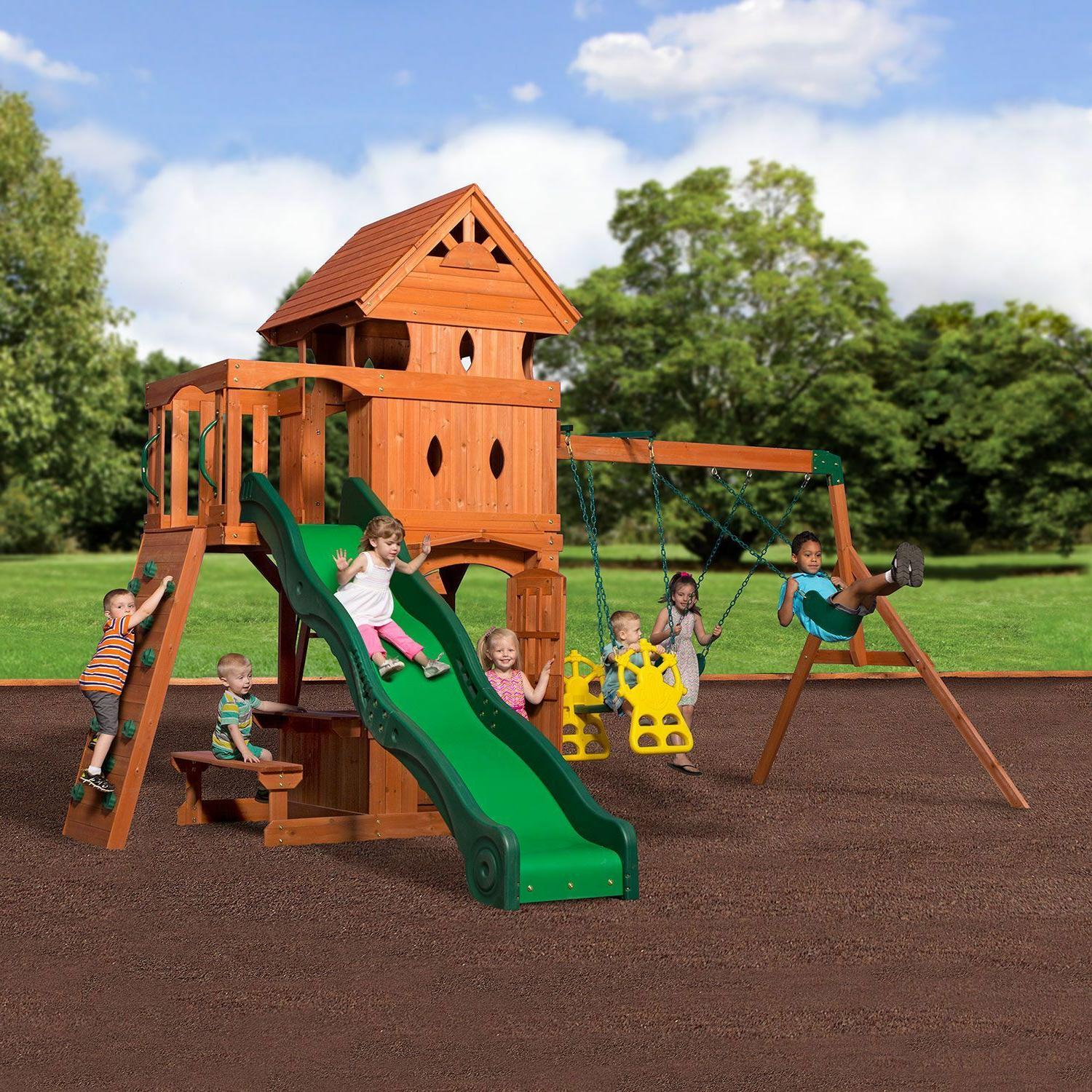 monterey cedar swing play set two upper