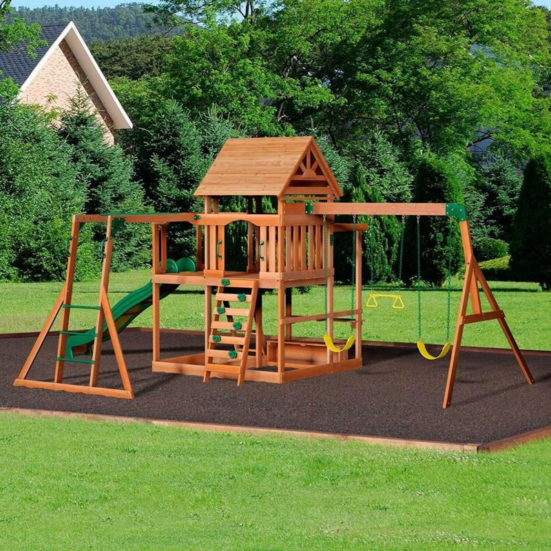 Backyard Cedar Wood Playset Set FREE