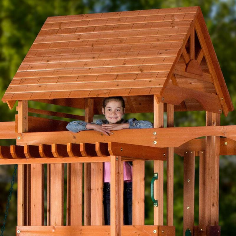 Backyard Cedar Wood Swing Set FREE