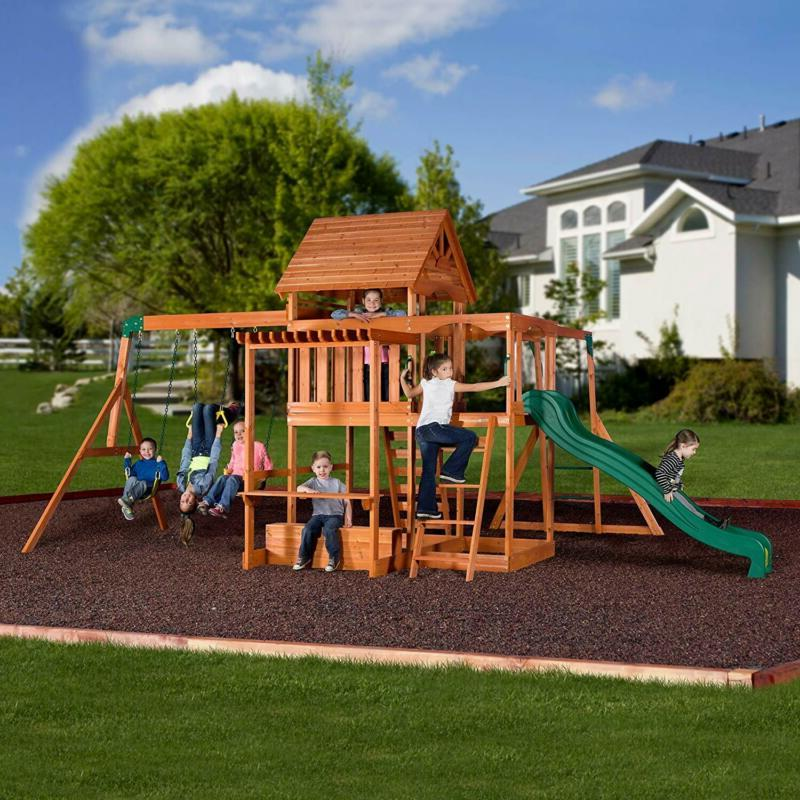 Backyard Discovery All Cedar Playset Set