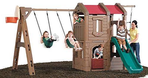Step2 Playful Lodge Swing Play Center