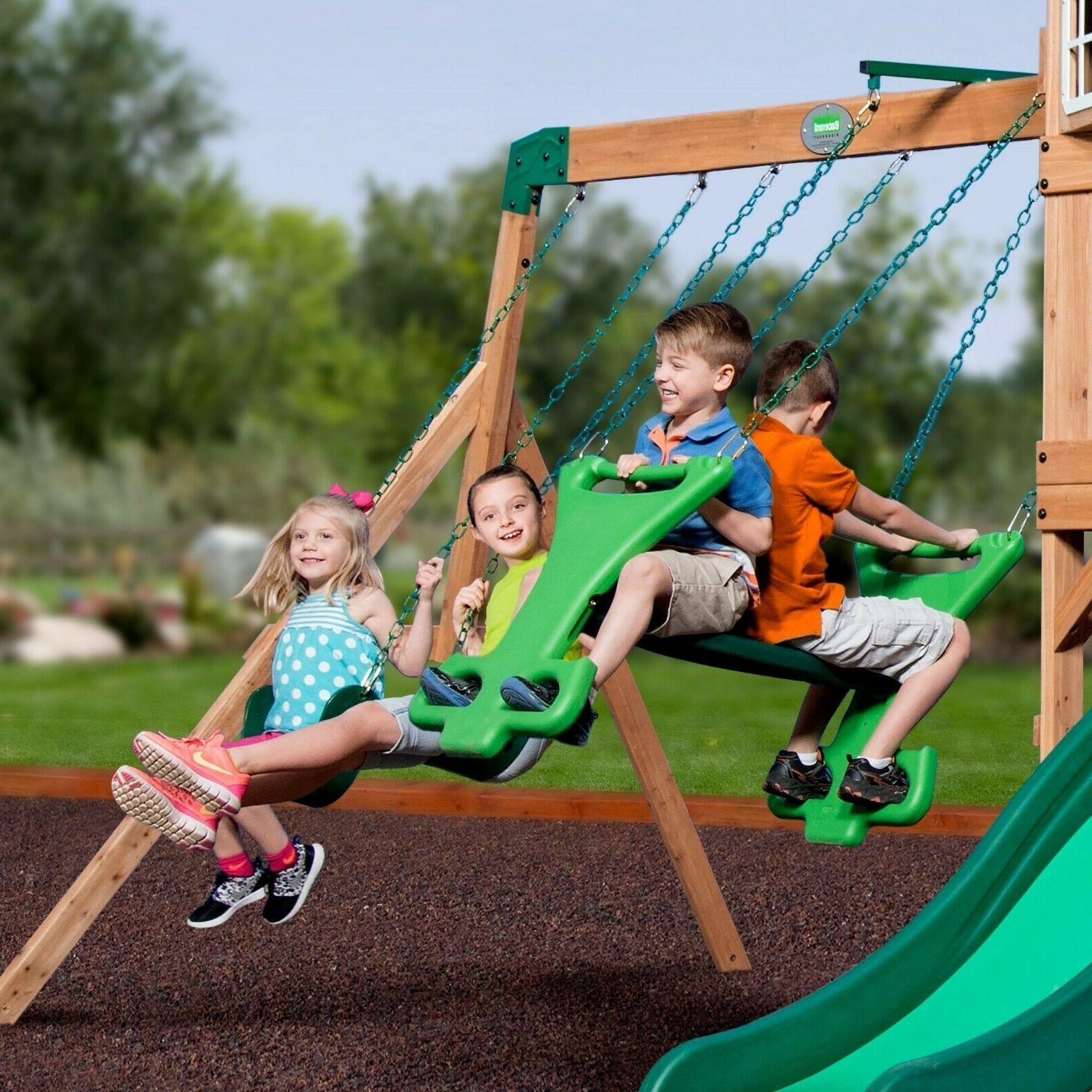 NEW Cedar Playground Play Set
