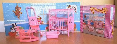 new doll house furniture nursery room playset
