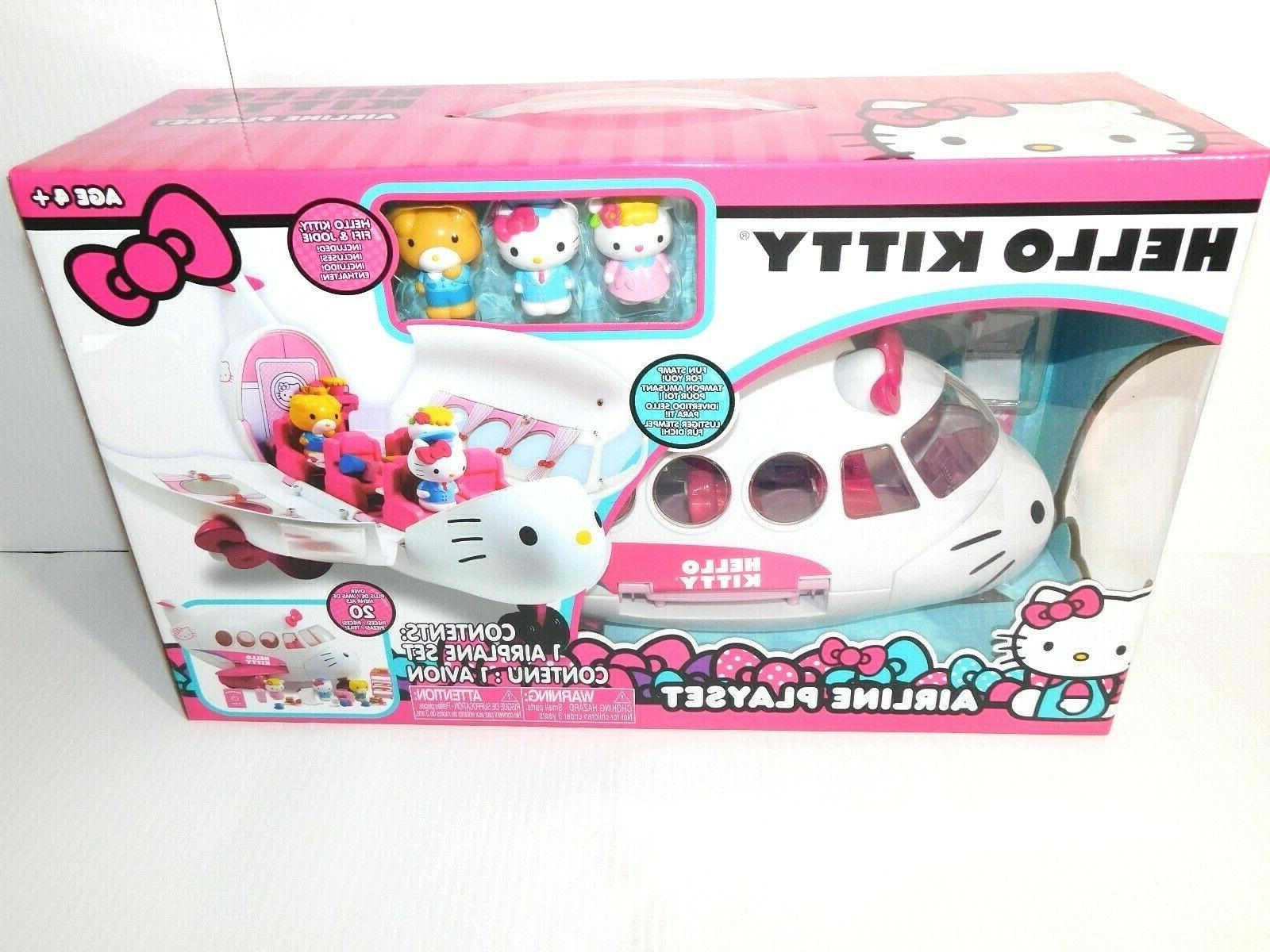 new hello kitty large airplane airline playset