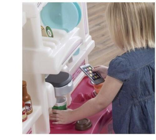 New Kids Pretend Play Kitchen Pink Playhouse Play set With Accessory