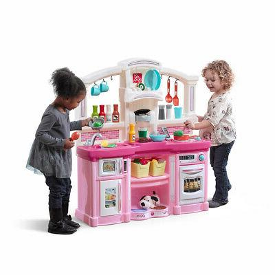new kids pretend play kitchen pink playhouse