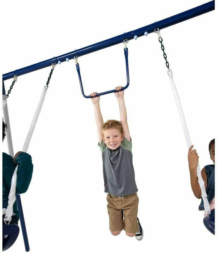 New Swing Outdoor Slide Set Steel