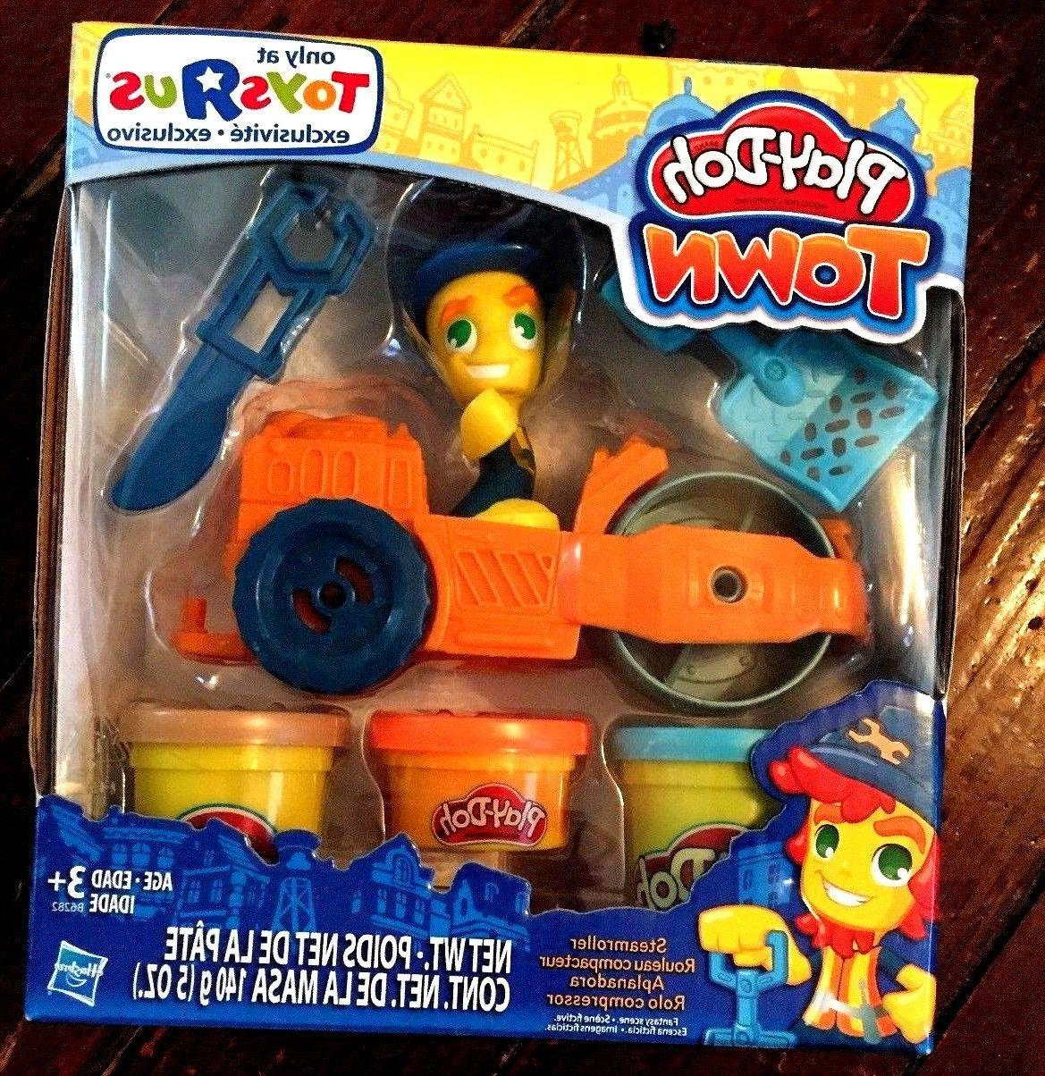 new play doh play set steamroller construction