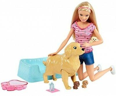 newborn pups doll and pets playset blonde