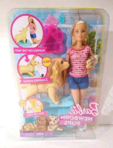 newborn pups doll and pets playset