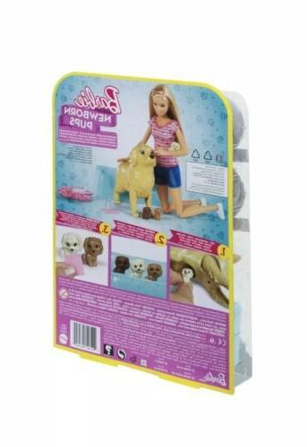 Barbie Pups Pets Playset, Blonde