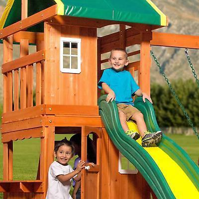 Backyard Cedar Playset Set