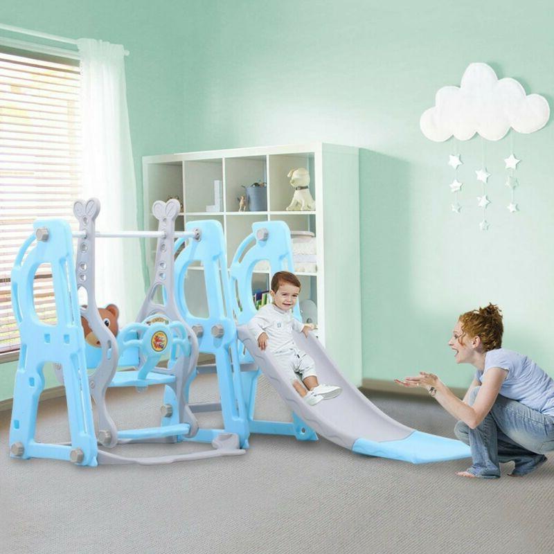Indoor Outdoor Playground Kids Swing Slide Climber Play Set