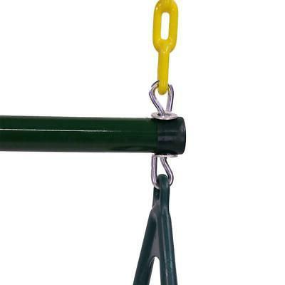 Outdoor Duty Ring Trapeze Bar Combo Swing for Play Set