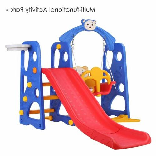 Outdoor Kids Play Slide Set Playset Swing Gift