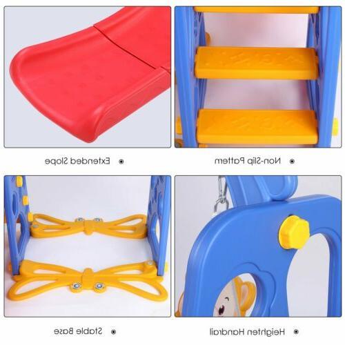 Outdoor Play Slide Set Climber Swing Girl Gift