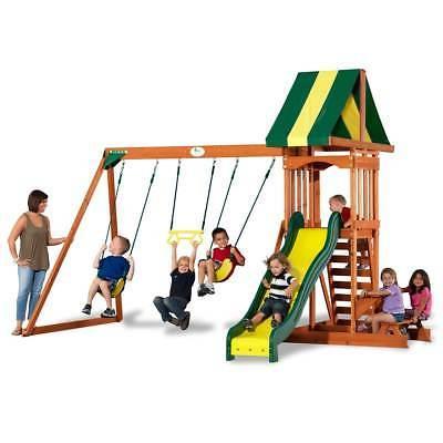 outdoor kids playground swing set play slide