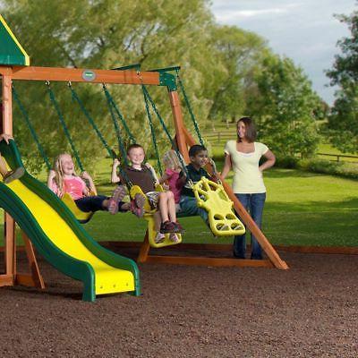 Backyard Outdoor All Cedar Swing Kids Slide