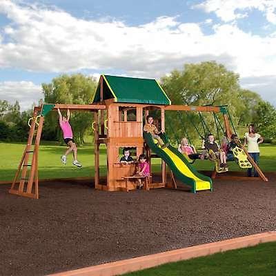 outdoor playground all cedar swing set kids
