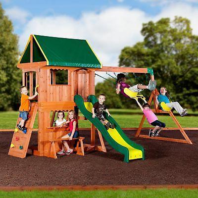 outdoor playground swing set kids slide playset