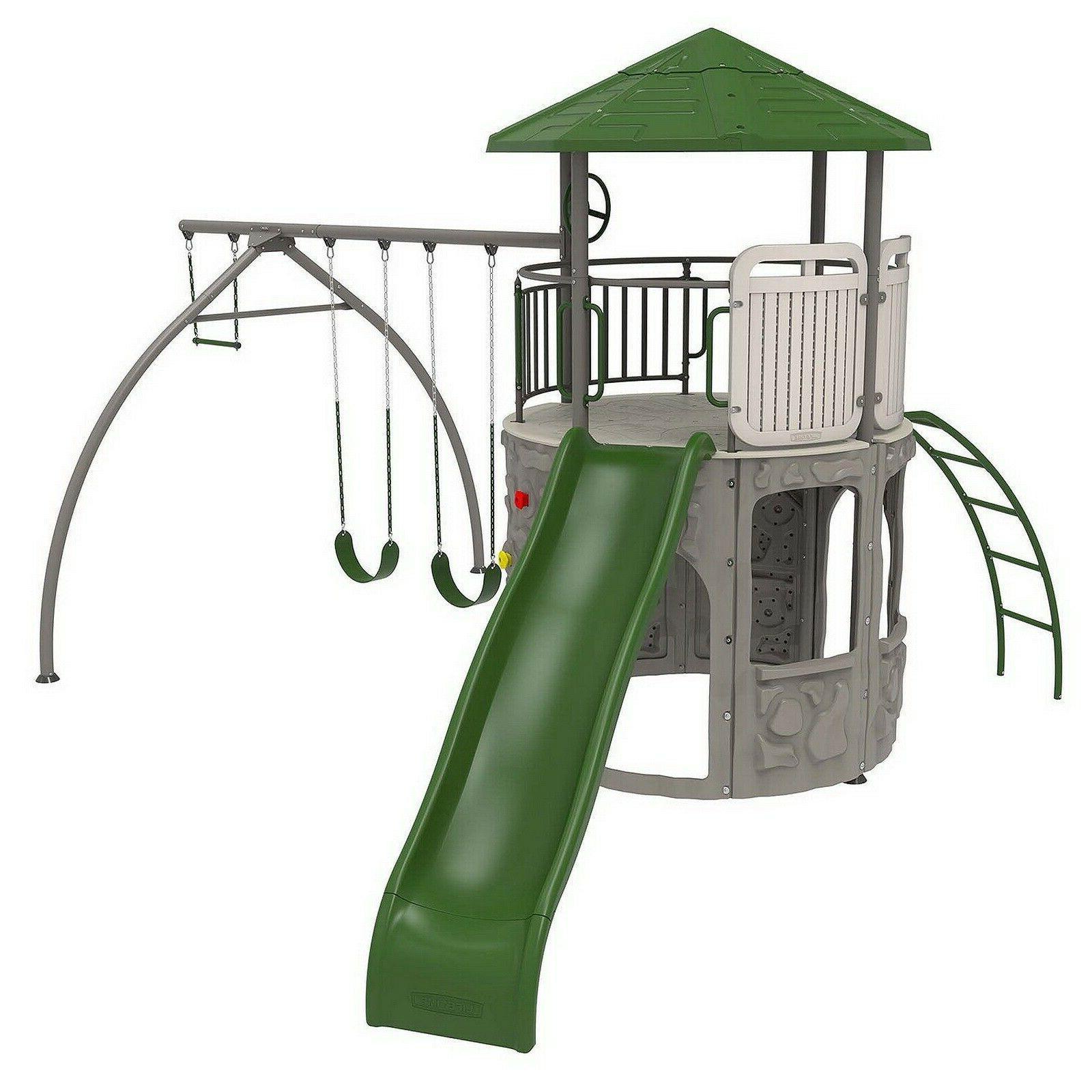 Lifetime Outdoor Playground Swingset Tower Playset Swing Sli