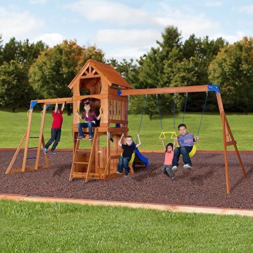 Backyard Parkway All Cedar Swing Set