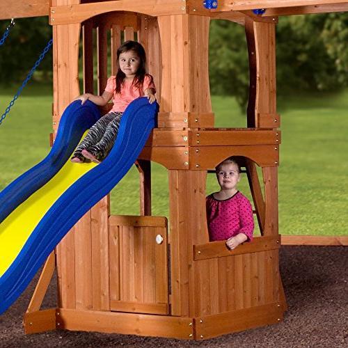 Backyard Cedar Playset Swing Set