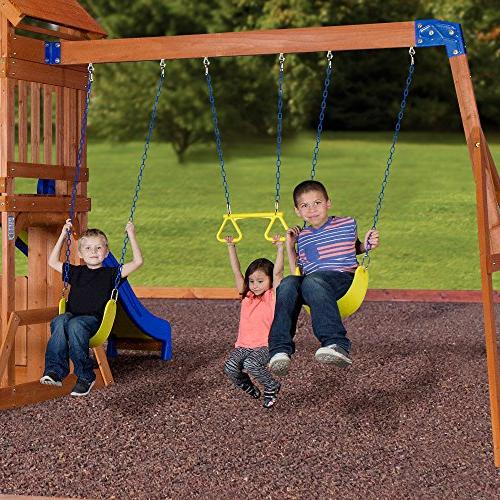 Backyard Cedar Swing Set