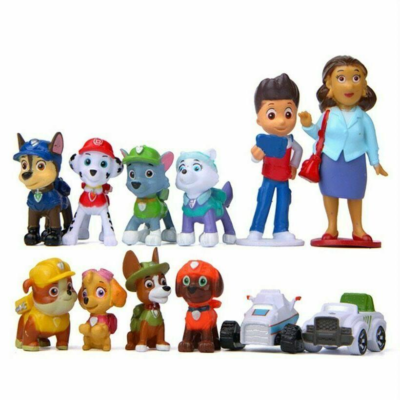 LARGE Plastic Paw Patrol Chase Figurine TOY~11.5 by 10