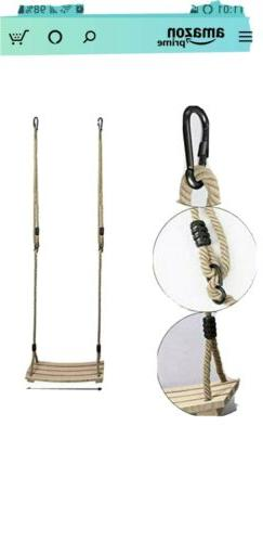 PELLOR Wood Rope Tree Swing Seat Set for Children Indoor and