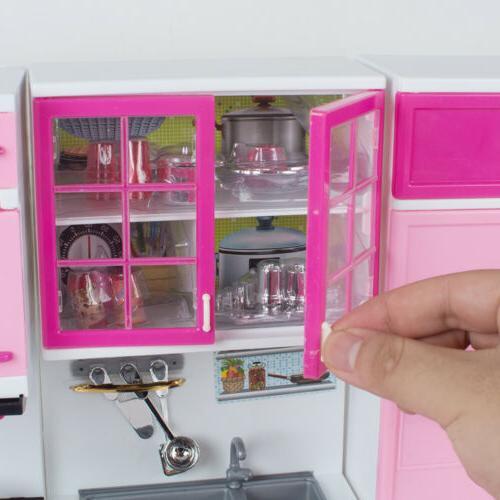 Kitchen Pretend Toy Cooking Set Toddler Kid