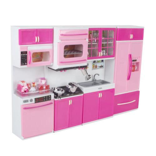 pink plastic kitchen toy kids cooking pretend