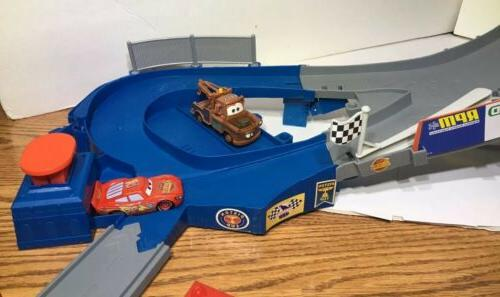 Disney Pixar Piston Cup And Mack Truck Play Set Bundle