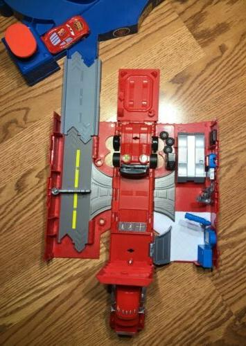 Disney Cars Piston Cup Speedway Track And Mack Set