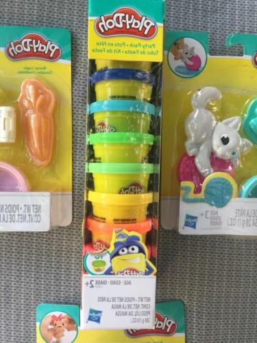 Play-Doh Mini New Package Kitty Bunny &