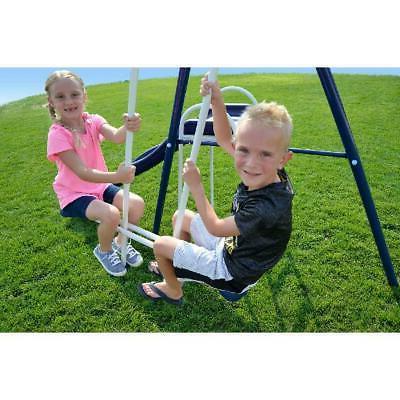 Playground Trampoline Metal Swing Set Slide Backyard Kids Playset New